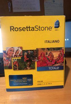 Rosetta Stone - Italiano (Italian) levels 1-5 for Sale in Wyckoff,  NJ