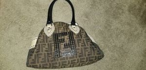 Fendi logo embellished with grommet studs for Sale in Fort Lauderdale, FL