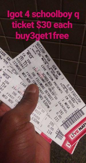 SchoolboyQ tickets for Sale in Detroit, MI