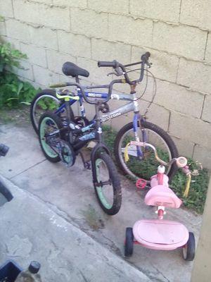 Three kids bikes for Sale in Los Angeles, CA