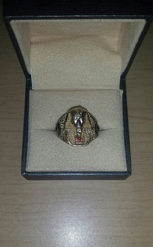 Solid 10k Yellow Gold Pharaoh Ring TraxNYC for Sale in Antioch, CA