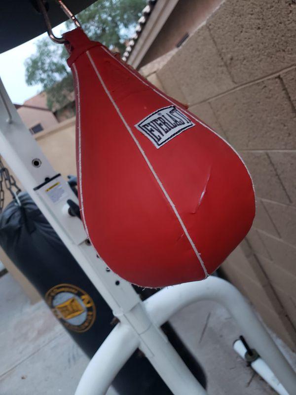 Punching bag , speed bag stand