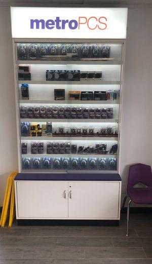 Glass wall display case it has led lights downtown Savannah for Sale in Savannah, GA