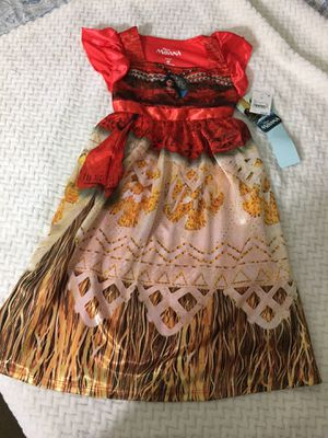 Moana Dress 4T for Sale in Los Angeles, CA