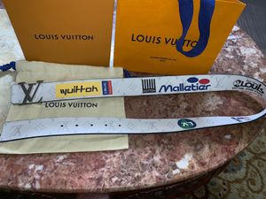 Monogram white reversible belt for Sale in Sunnyvale, CA