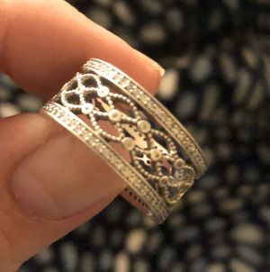 Pandora lacework silver ring for Sale in San Diego, CA