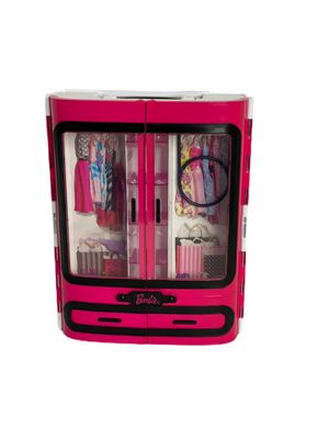 Barbie Pink Wardrobe Closet w/ Handle - Hard Plastic Carrying Case - Mattel for Sale in Clermont, FL