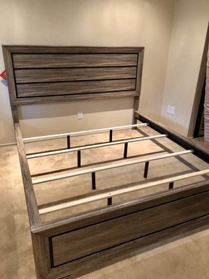 Queen / Eastern King / California King Wooden Bed Frame - Mattress & Box Spring Available Too for Sale in Pittsburg, CA