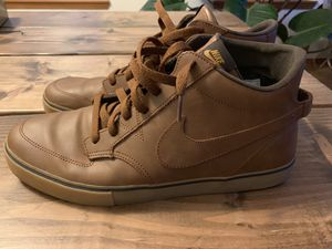 Nike mids size 13 brown leather for Sale in Portland, OR