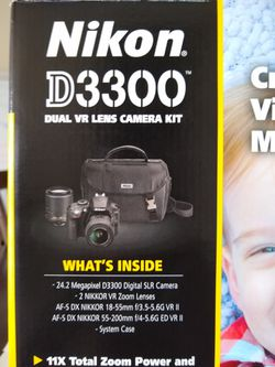 Nikon D3300 DSLR Kit DX Format for Sale in Fort Lauderdale,  FL