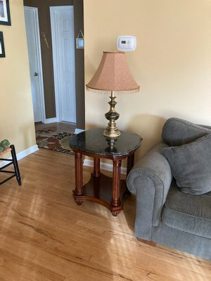 Side/end table faux granite top accent coffee for Sale in Bayville, NJ