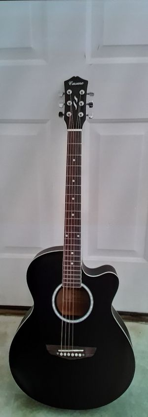Brand new Gothic flat black concert grand acoustic guitar for Sale in Lebanon, TN