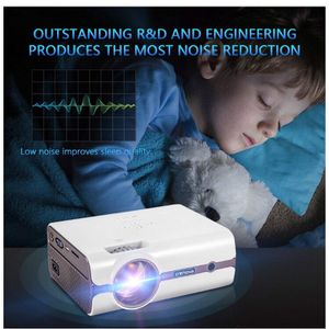 Upgraded (+80% Lumens) LED Portable Projector with Carrying Box for Sale in San Dimas, CA