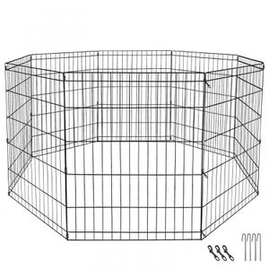 24 Dog Playpen Crate 8 Panel Fence Pet Play Pen Exercise Puppy Kennel Cage Yard for Sale in Wildomar, CA