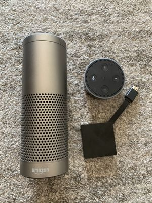 Amazon Echo Package with Echo Plus, Dot, and Fire TV 4K for Sale in Seattle, WA