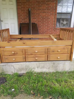 Capatians BED with pull out 3drawers 6 look for Sale in Red Oak, TX