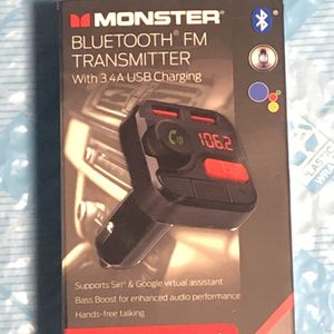 Monster Bluetooth FM transmitter for Sale in La Mesa, CA