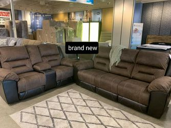 $39 Down payment ♨️Earhart Chestnut Reclining Living Room Set ~Sofa and Loveseat for Sale in Beltsville,  MD