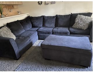 Grey Couches Comes With The Storage Box In The Middle Still In Good Condition for Sale in Chino,  CA