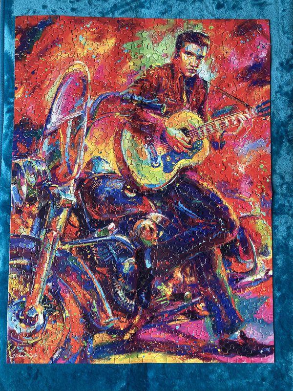 Elvis Presley Blend Cota Guitar Motorcycle 550 Pieces Jigsaw Puzzle Rock & Roll!