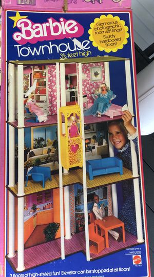 1974 Barbie's Townhouse COMPLETE SET! W/ Furniture 3-Story Home VINTAGE! 3.5' ORIGINAL BOX! for Sale in Evans City, PA