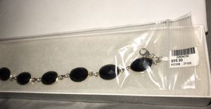 Sterling Silver Faceted Black Onyx Bracelet for Sale in Tumwater, WA