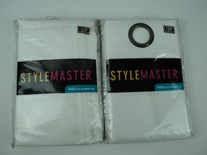 "STYLEMASTER Curtains Tribeca: Faux Silk Grommet Panel 56"" x 120"" WHITE for Sale in Modesto, CA"