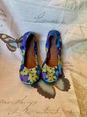 Lucky Brand Blue/yellow Floral Flats sz 8 for Sale in Herndon, VA