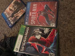 Ps4 games spiderman for Sale in Atlanta, GA