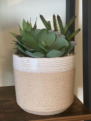 Ceramic pot with Faux Succulent for Sale in San Dimas, CA
