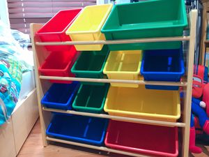 Kids' Toy Storage Organizer - Natural/Primary for Sale in Fairfax, VA