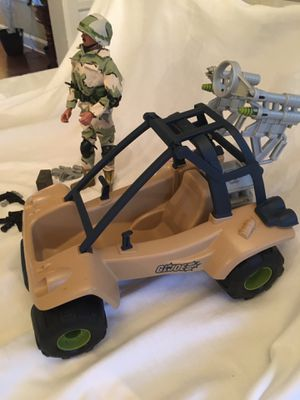 """GI Joe 12"""" Action Figure with accessories and dune buggy $50 for Sale in Toms River, NJ"""