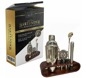 Bartender kit - Cocktail shaker set with Stand Holder for Sale in Oroville, CA
