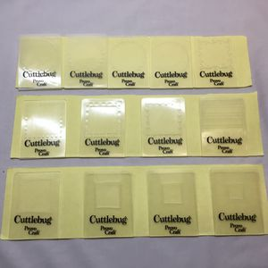 Lot of 13 - Cuttlebug Provo Craft Scallop Squares Embossing Folders Celebrate for Sale in Port St. Lucie, FL