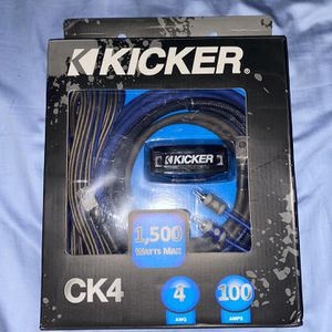 Kicker CK4 Complete 4 Gauge OFC CK-Series 2-Channel Amplifier Installation Kit for Sale in Beltsville, MD