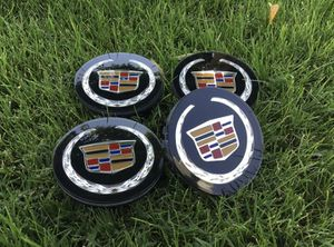 "Set of 4 Black Cadillac Center Caps ATS CTS STS XTS CTS-V 2.6"" Wheel Rim Cap for Sale in Scottsdale, AZ"