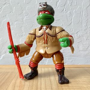Vintage 1992 Teenage Mutant Ninja Turtles Wacky Wild West Sewer Scout Raph, Raphael TMNT Action Figure Collectable Toy with 1 Weapon for Sale in Elizabethtown, PA