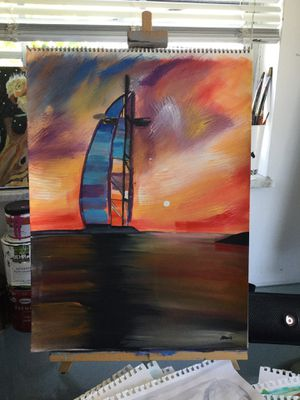 Dubai Sunsets Abstract Painting Art for Sale in Fort Lauderdale, FL