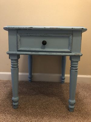 Blue summer splash distressed/ night stand / end table for Sale in Lakeland, FL