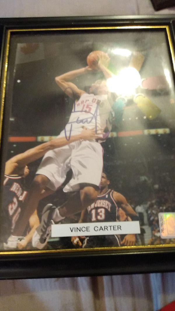 Vince Carter autographed picture