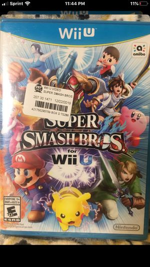 Nintendo Wii U Super Smash Bros for Sale in Chino, CA