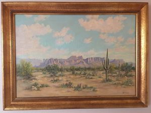 riginal Large A.D. Macintyre Arizona Oil Landscape Desert Painting 37x27 for Sale in Seattle, WA