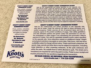 Knotts Berry Farm Tickets for Sale in Long Beach, CA