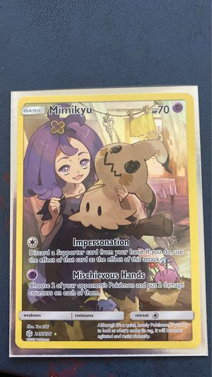 Mimikyu - Secret Rare Mint Cosmic Pokémon Card for Sale in Miami, FL