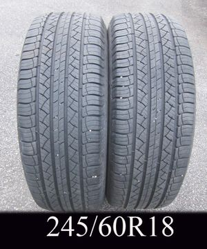 PAIR - MICHELIN 245/60R18 tires for Sale in West Warwick, RI