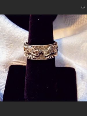 NWT Sterling Silver Double Dragons Wide Band Ring Size 7 for Sale in Durbin, WV