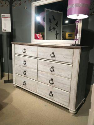 Ashley Furniture Whitewash Dresser for Sale in Santa Ana, CA
