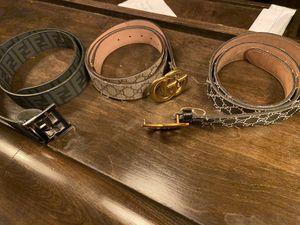 Fendi belt, 2 Gucci belts for Sale in Virginia Beach, VA