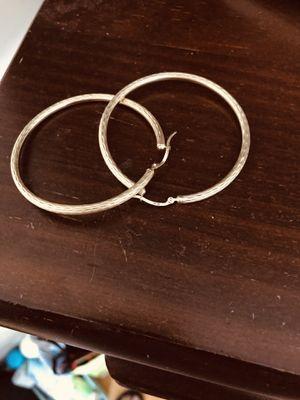 10k hoop earrings for Sale in Southington, CT