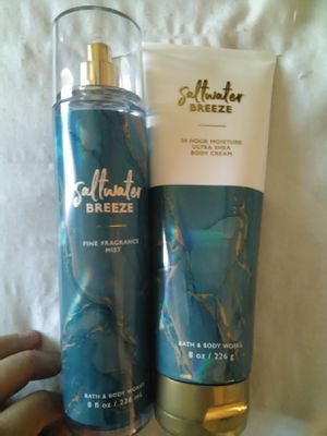 Bath&body saltwater breeze fragrance spray and body cream for Sale in Hesperia, CA